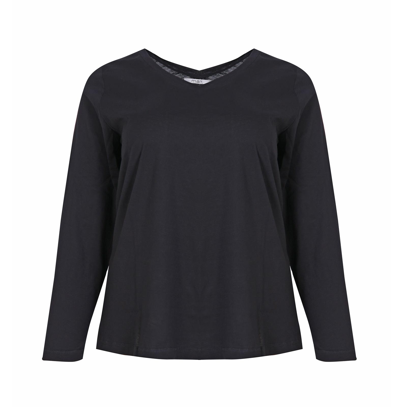 ● Απαλό βαμβακερό ύφασμα ● V-λαιμόκοψη ● Μακρύ μανίκι 100%COTTON Το μοντέλο έχει ύψος 1,76 εκ. και φοράει S/M