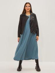 Ribbed sleeveless dress
