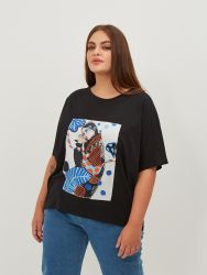 Cotton t-shirt with art print