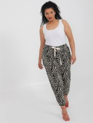 Zebra print tapered leg trousers