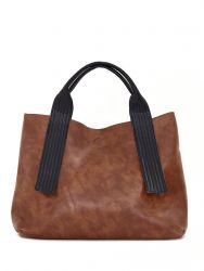 Shopper bag double face with snakeskin print