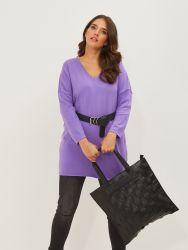 Shopper bag in black weave