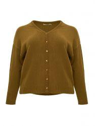Fine-knit long sleeve cardigan