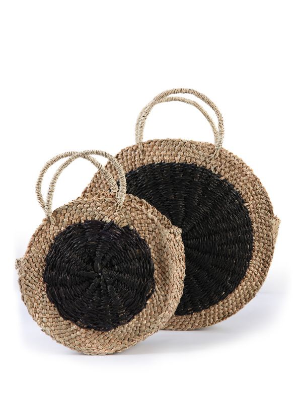 2-in-1 circle straw bag