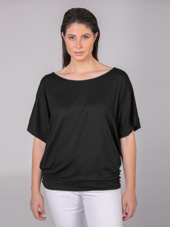 Basic μπλούζα με εφαρμοστό τελείωμα