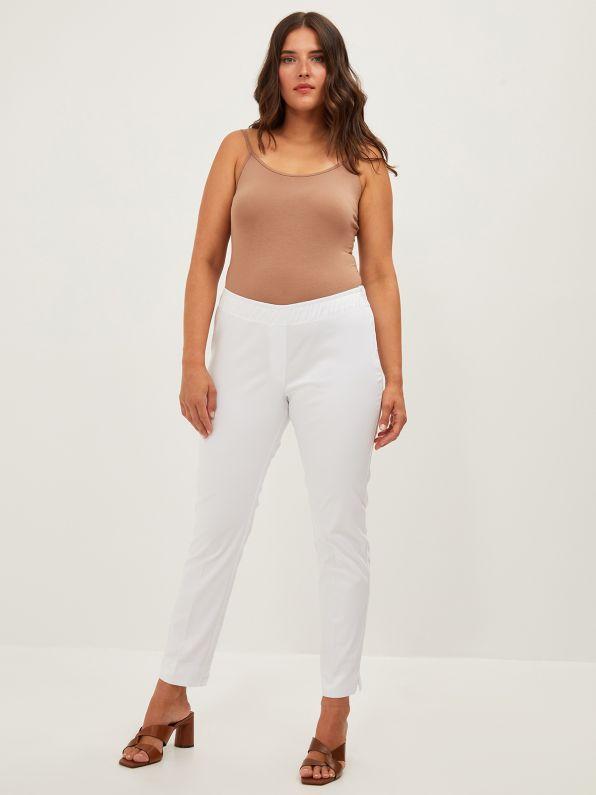 Basic βαμβακερό παντελόνι