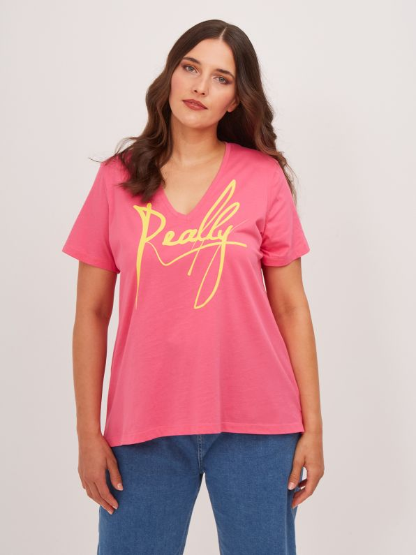 Cotton t-shirt 'Really'