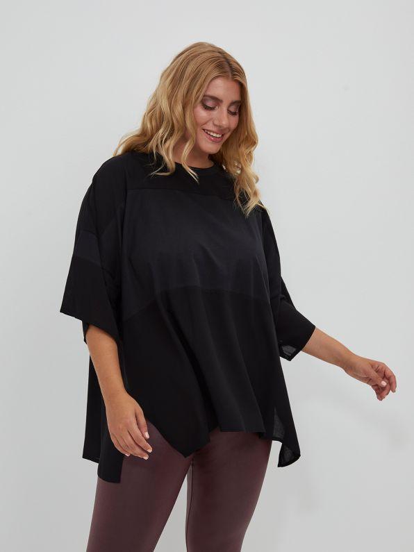 Μπλούζα με συνδυασμό υφασμάτων