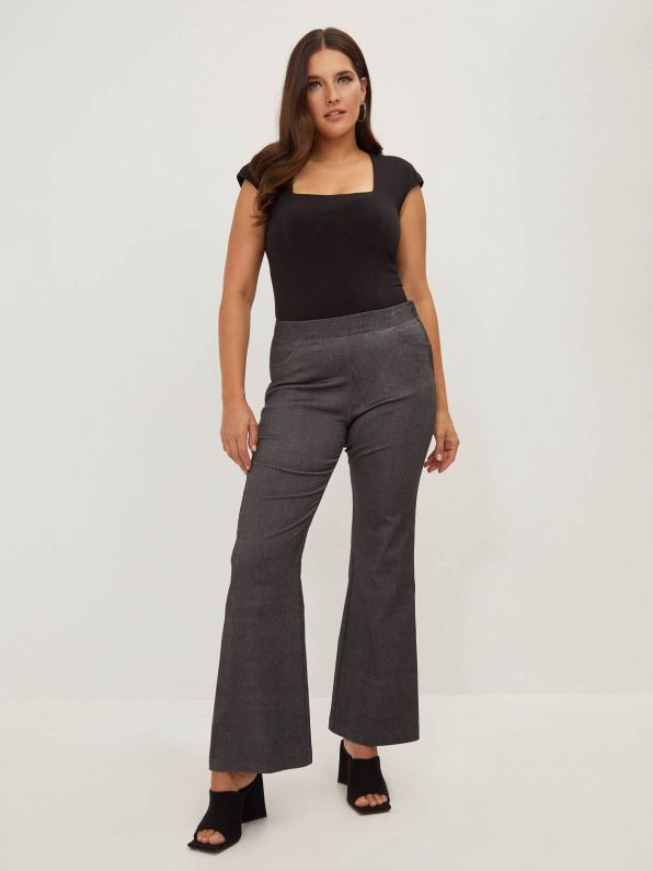 Flare pants in washed black