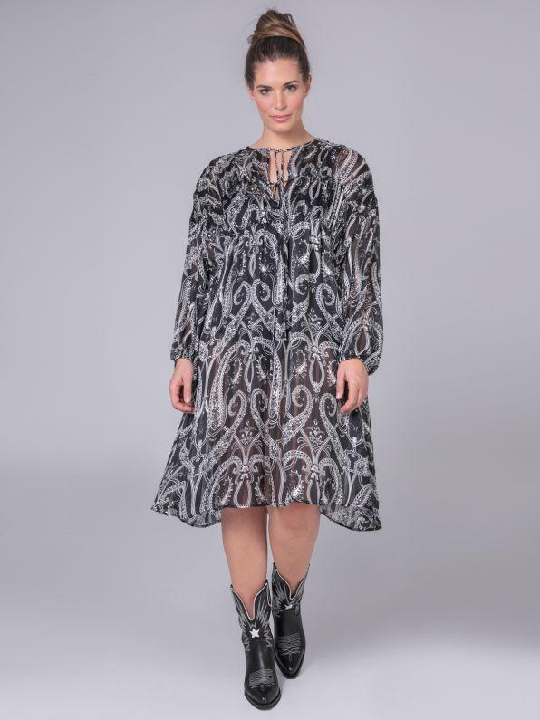 Midi dress in paisley print