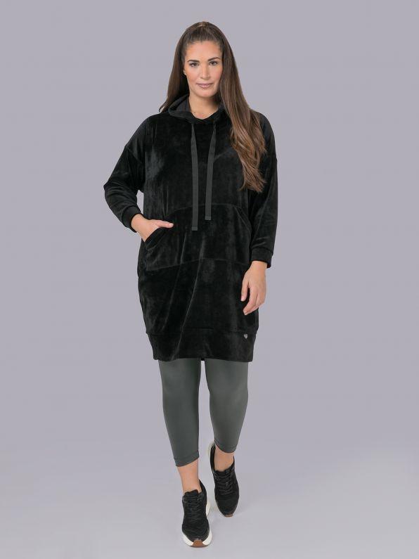 Velour hoodie dress