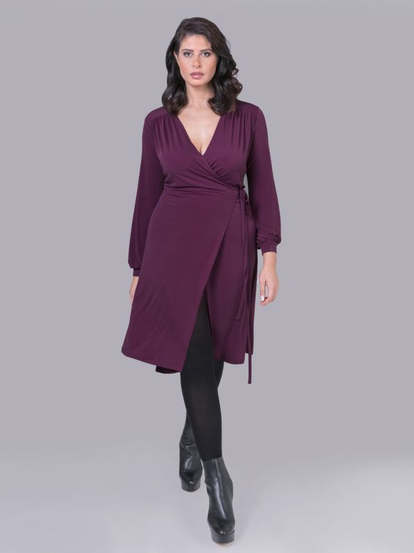Super jersey wrap dress