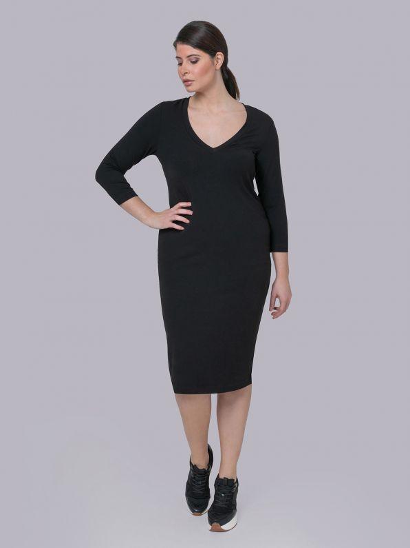 Basic φόρεμα με lycra