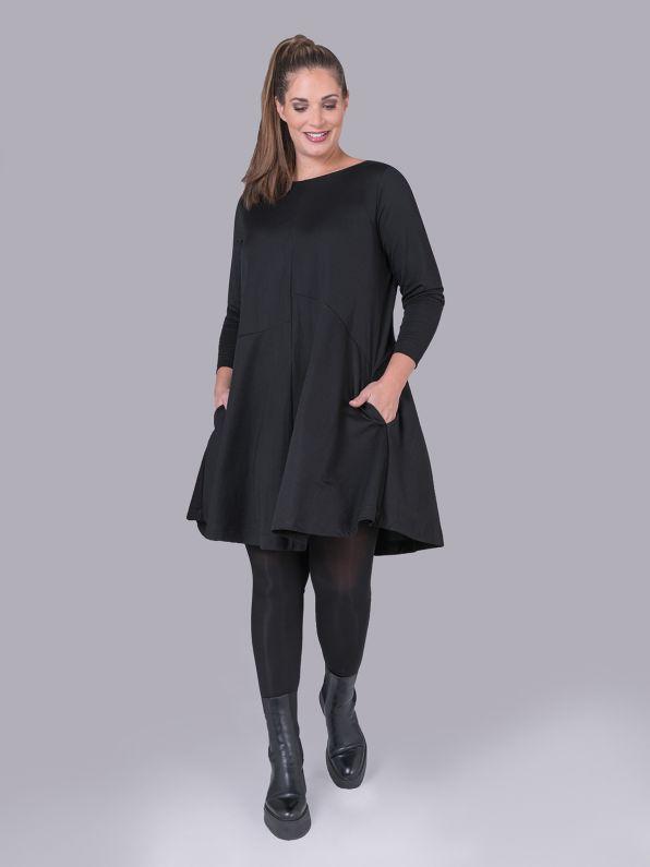 Φόρεμα βισκόζη με πτυχώσεις