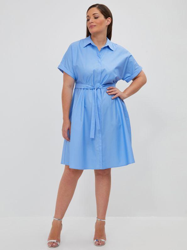 Σεμιζιέ φόρεμα ποπλίνα