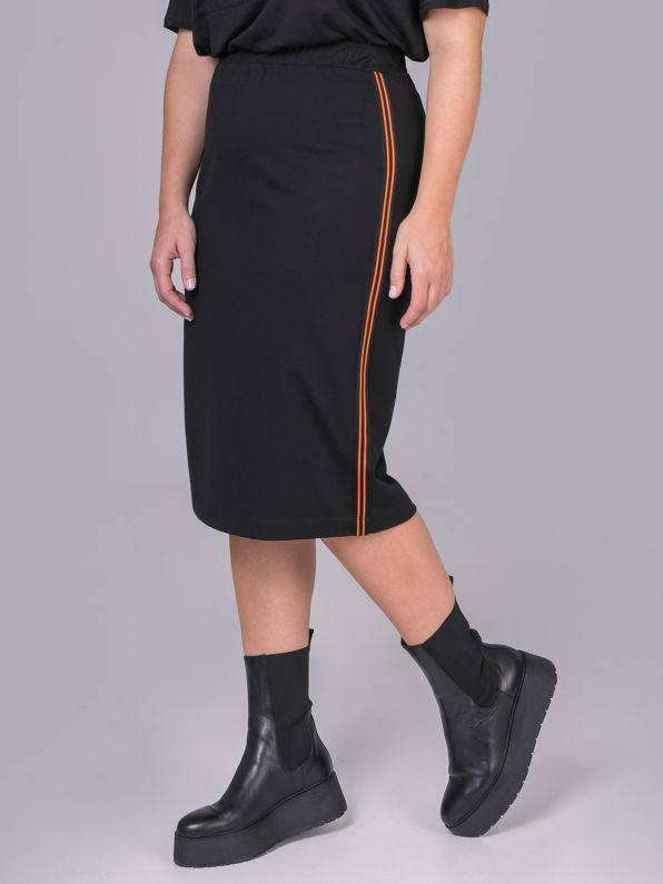 Skirt with neon side stripes