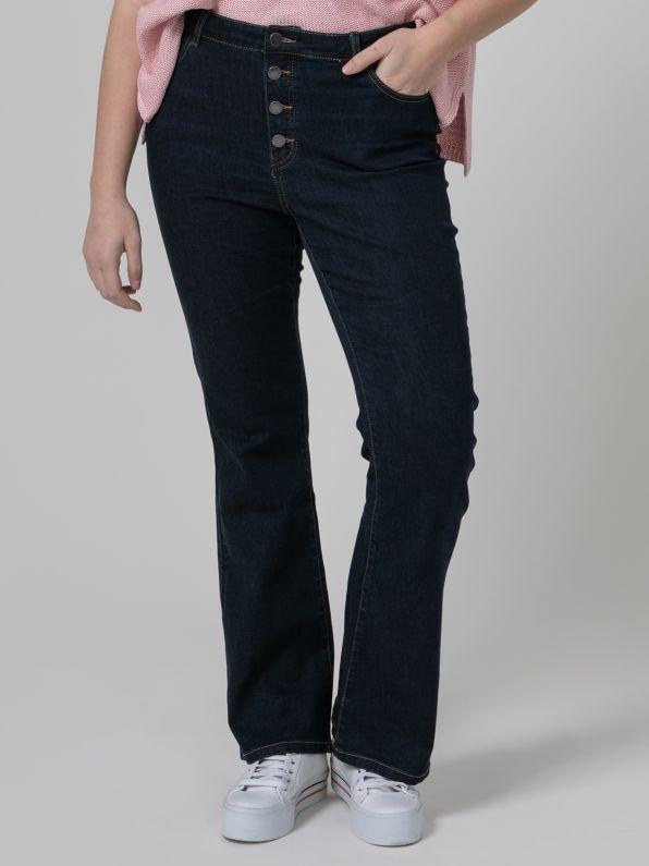 High waist bootcut jeans