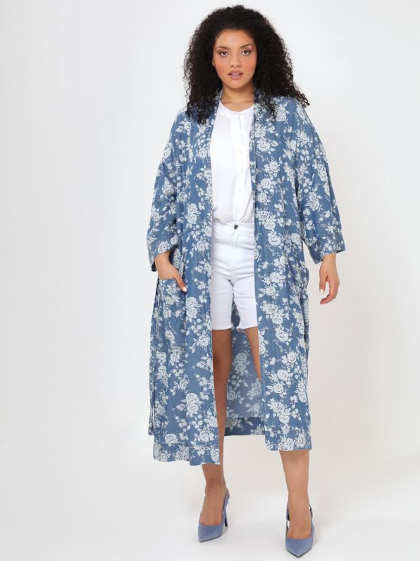 Lyocell kimono in floral print