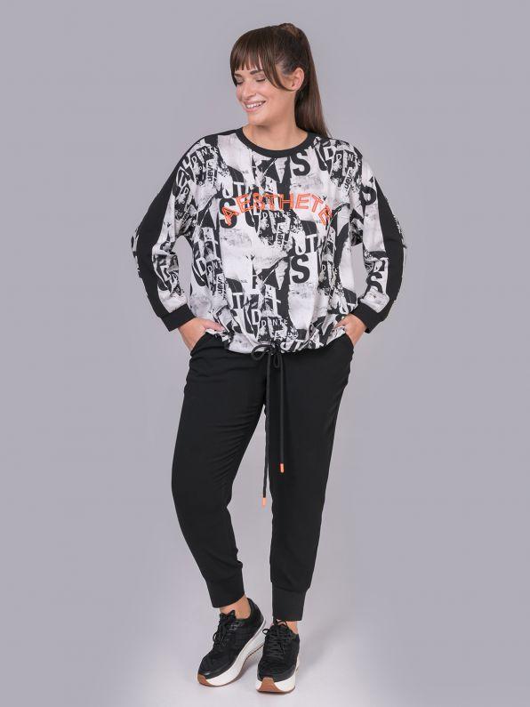 Μπλούζα φούτερ 'Aesthete' εμπριμέ | Comfort Collection