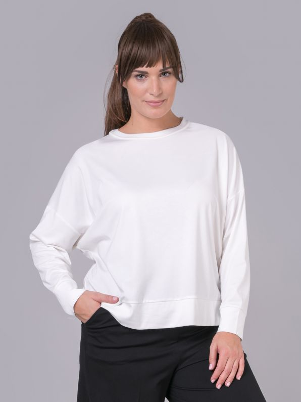 Viscose long-sleeve sweat