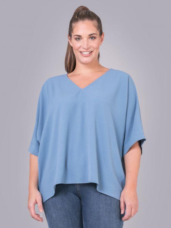 Crepe V-neck blouse