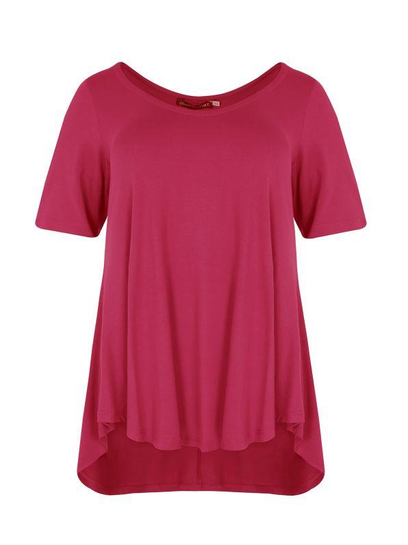 Basic μπλούζα με στρογγυλάδα