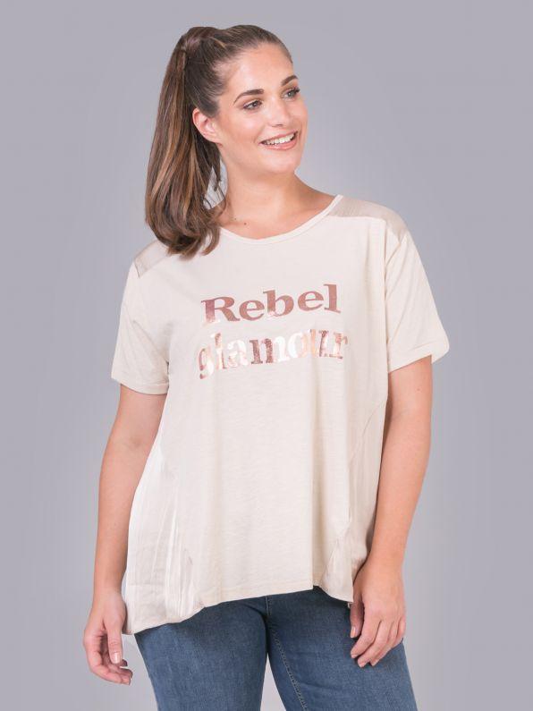 """""""Rebel glamour"""" logo t-shirt"""