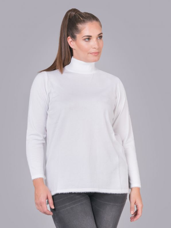 Πλεκτή μπλούζα ζιβάγκο