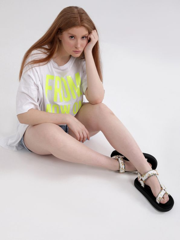 Cotton t-shirt 'From Now On'