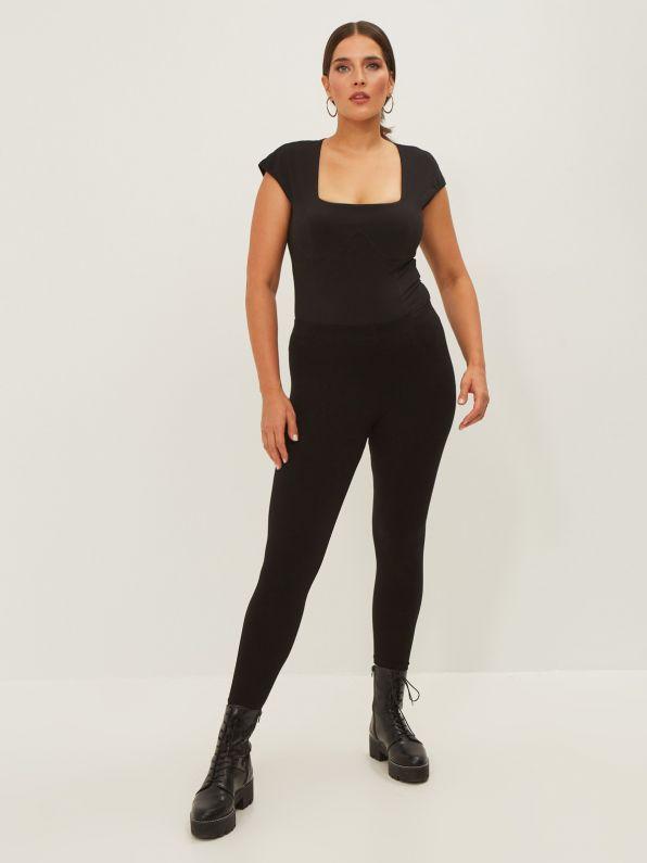 Viscose leggings with elasticated waist