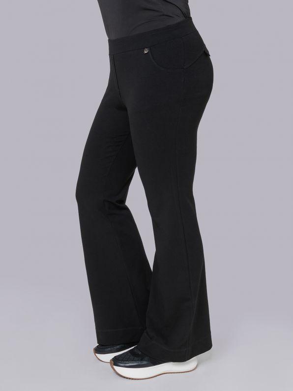 Basic viscose/lycra flare pants