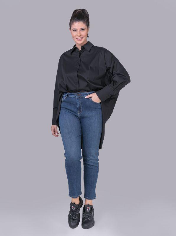 Πουκάμισο ποπλίνα σε μαύρο | Comfort Collection