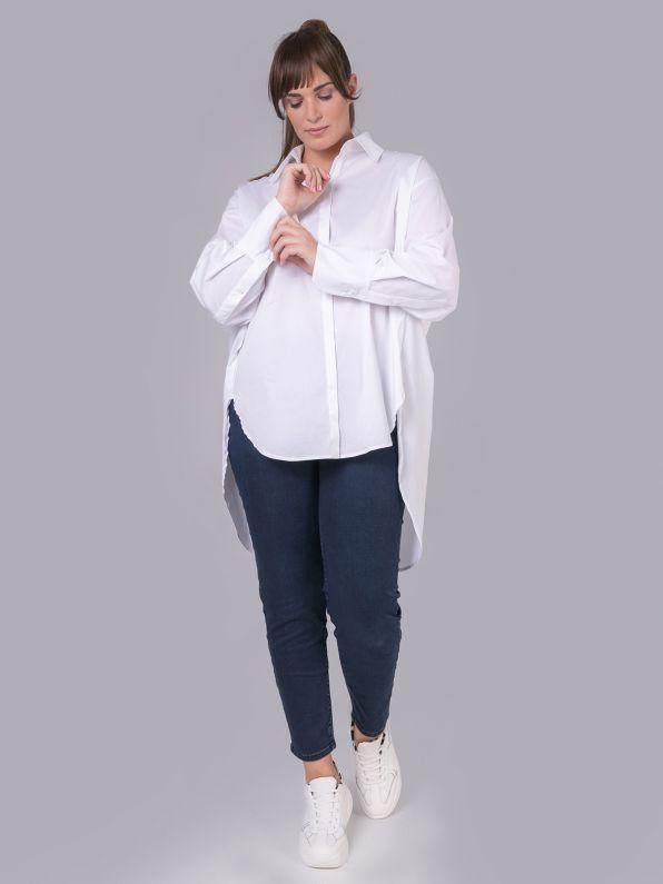 Πουκάμισο ποπλίνα σε λευκό | Comfort Collection