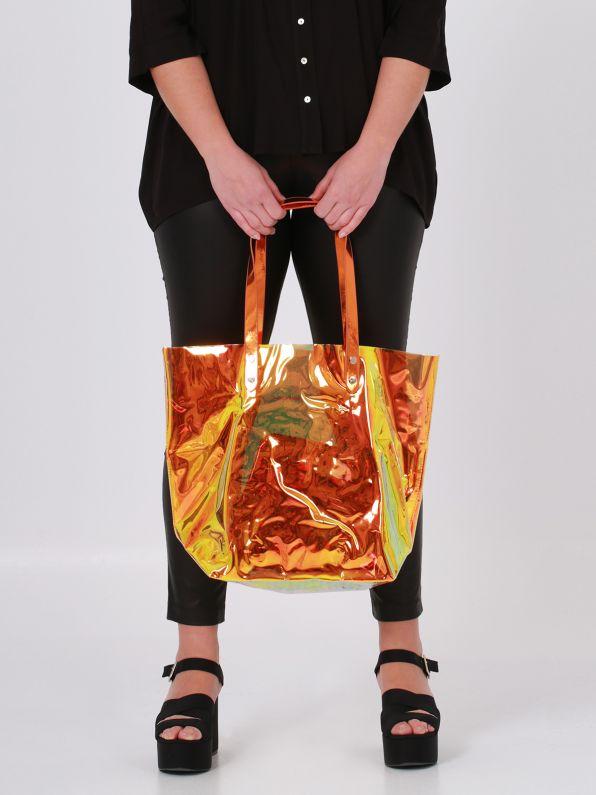 Shopper bag in hologram vinyl