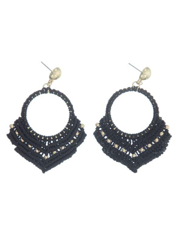 Ethnic-detailed earrings