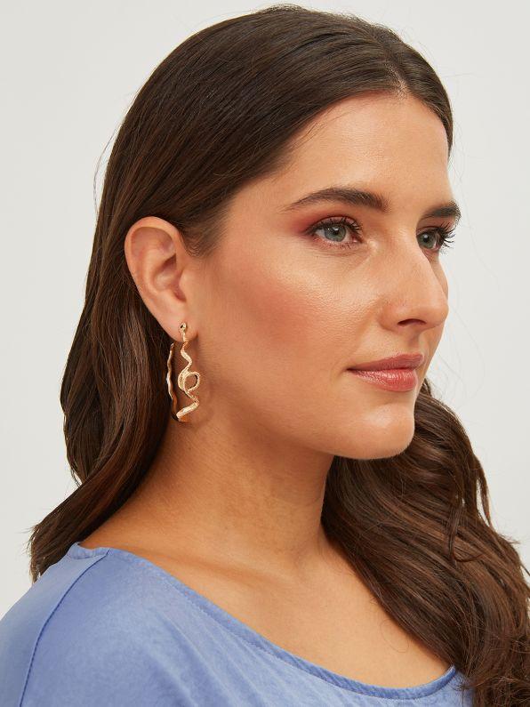Snake design hoop earrings