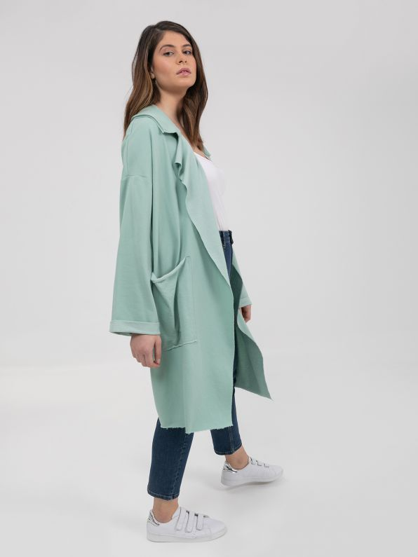 Sweat coat with pockets