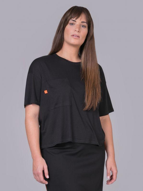 Μπλούζα με τσεπάκι & neon λεπτομέρεια | Comfort Collection
