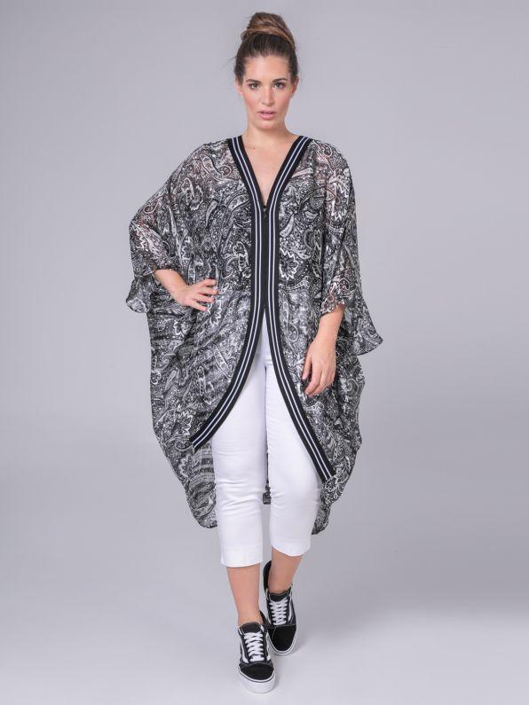 Kimono in paisley print