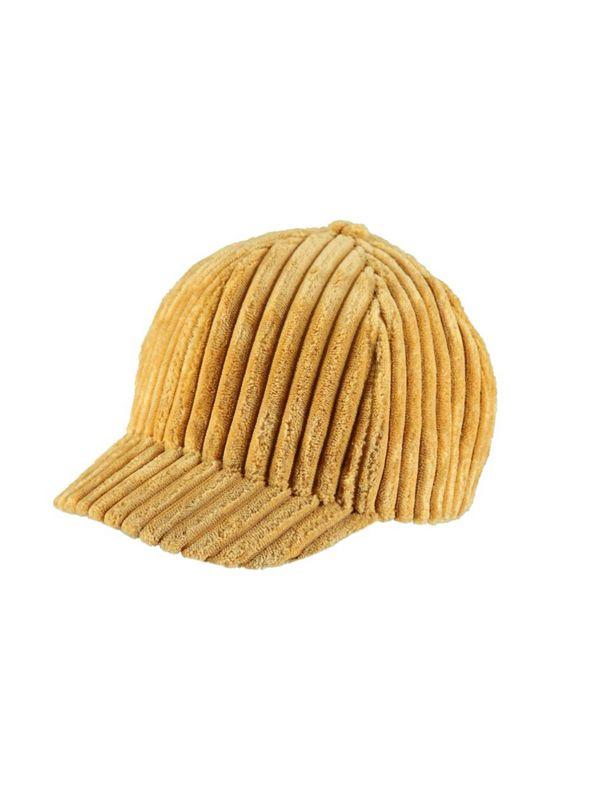 Velvet cap in palle yellow