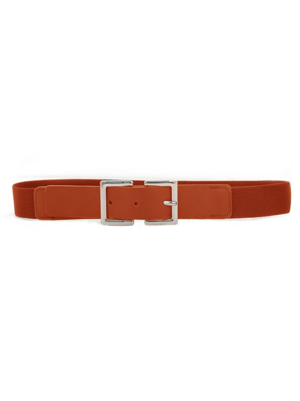 Leather square buckle belt