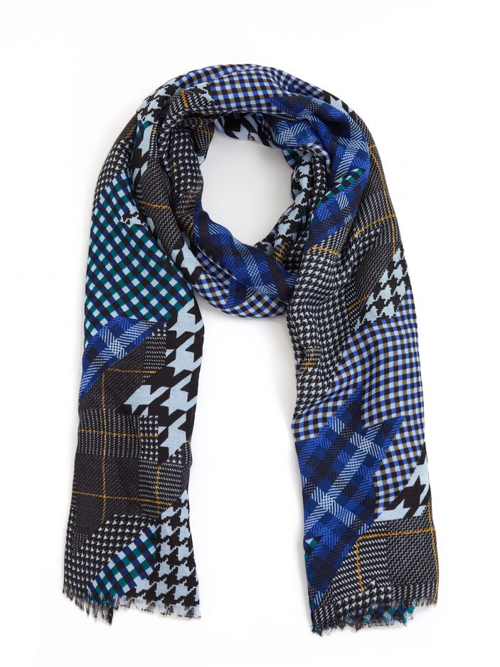 Colorful checked scarf