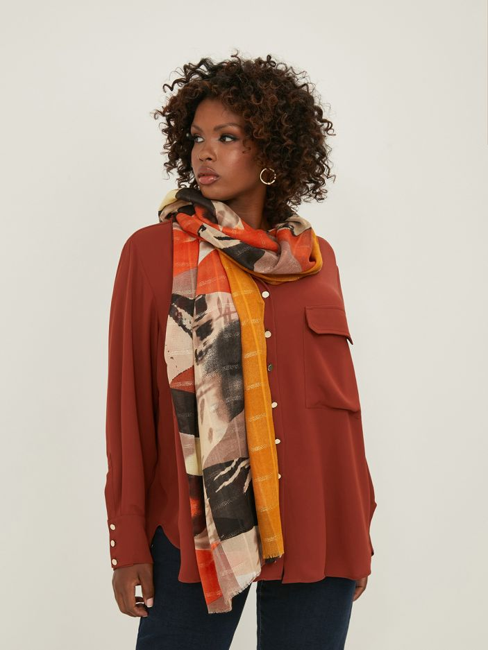 Colorful printed scarf