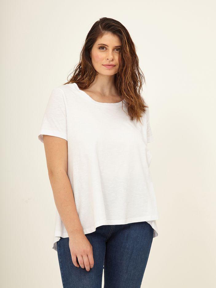 Cotton round neck top