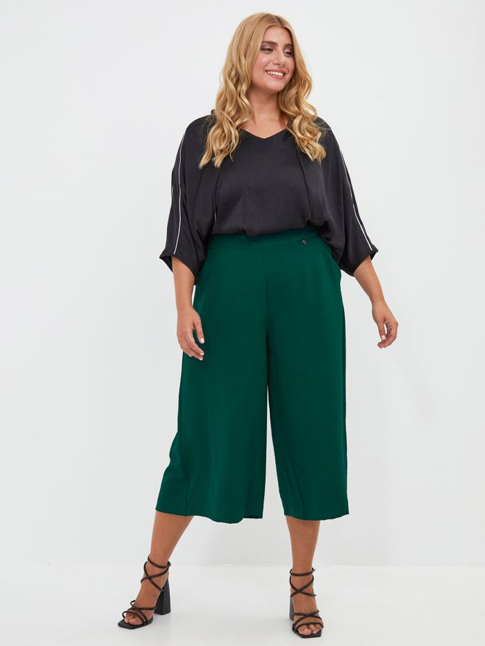 Culotte trousers in crepe