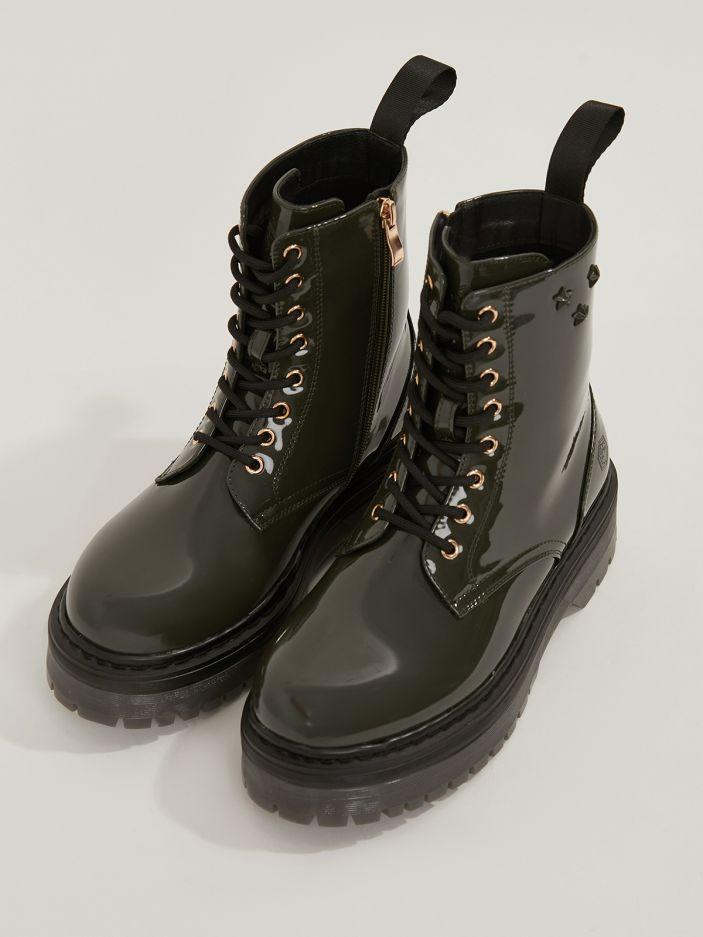 LUMBERJACK | Elyse Combat Boots δερμάτινα