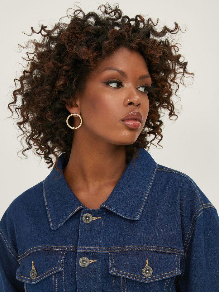 Gold-tone small hoop earrings