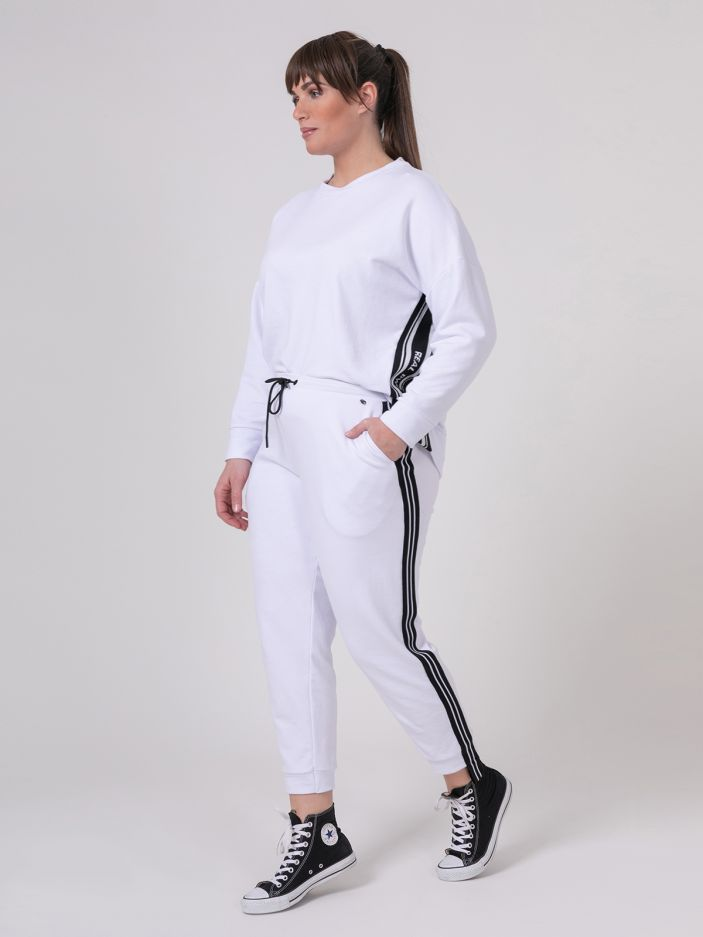 Joggers with side stripes