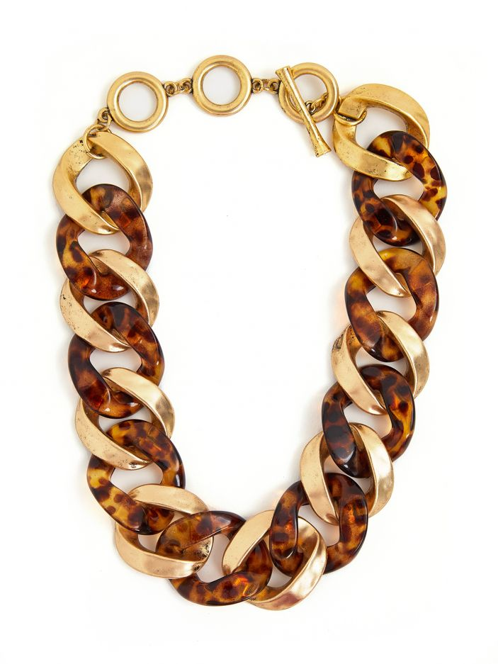 Oversize chain tortoise necklace