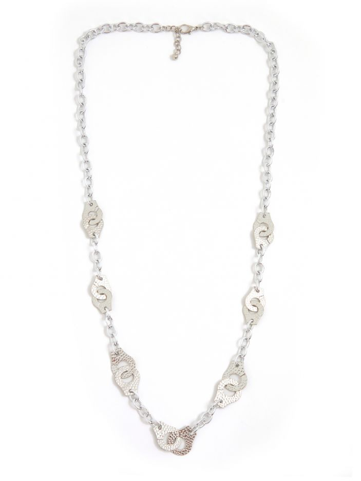 Chain necklace with handcuff charms